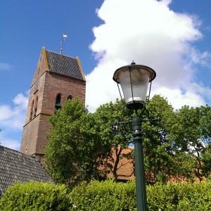 Pancratiuskerk vanaf Hoofdweg Godlinze