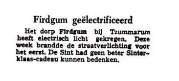 Firdgum geelectrificeerd