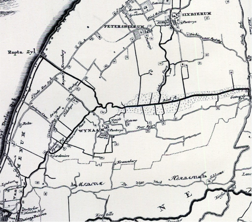 Via deze hoofdverbinding kon je in Harlingen, Franeker en Sexbierum komen. De Roptazijlroede bood tot 1884 toegang tot de Waddenzee.
