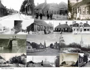 Op oude foto's en ansichtkaarten valt op dat de erfbegrenzing in Warffum vaak bestond uit witte hekjes. Ook de brugleuningen waren wit geverfd.