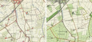 De ruilverkavelingen die in de tweede helft van de 20ste eeuw zijn uitgevoerd, hebben als gevolg gehad dat veel historische structuren verloren zijn gegaan. Zo werd de verbinding tussen de Bieuwketil en de Frankemaheerd ongedaan gemaakt. Deze weg vormde ooit de toegang tot de Warfummerborg.