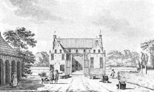 De borg Asinga. (tekening: J. Bulthuis (1750-1801). De afbeelding is afkomstig uit het boekje De Marne als éénheid, 1971.