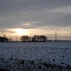 Godlinze gezien vanaf Westendorpweg Losdorp