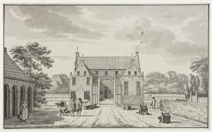De Borg Asinga in Ulrum - tekening van Jan Bulthuis uit 1772