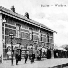 Het station van Warffum omstreeks 1910. (Foto: Openluchtmuseum Het Hogeland)